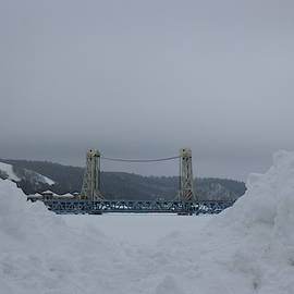 Lift Bridge In Winter by Two Bridges North