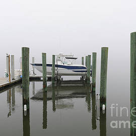 Lifted Up Into The Fog - Rivertowne On The Wando by Dale Powell