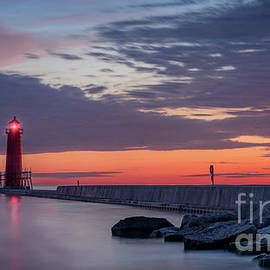 Light On The Horizon, Grand Haven, Michigan by Liesl Walsh