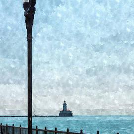 Jennifer White - Lighthouse From Navy Pier Painterly