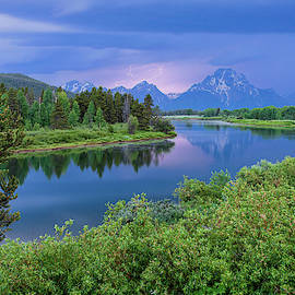 Lighting On Oxbow Bend 2 - Grand Teton National Park Wyoming by Brian Harig