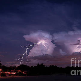 Lightning at Sharky's in Venice, Florida by Liesl Walsh
