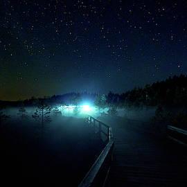 Lights on the path by Jouko Lehto