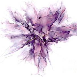 Lilac Ink Abstract 2 by Ann Garrett