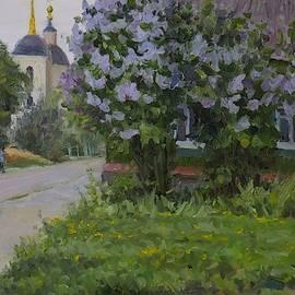 Lilac Near The House  by Nikolay Dmitriev