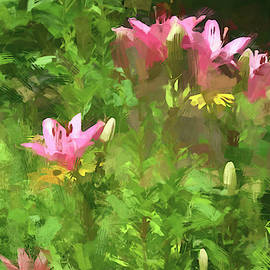 Lillies Along The Road by Tricia Marchlik