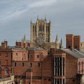 Lincoln Cathedral Behind The Castle by Scott Lyons