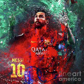 Lionel Messi in Barcelona Kit by Gull G