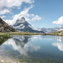Little Girl at the Matterhorn by Sandi Kroll
