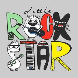 Little Rock Star - Baby Room Nursery Art Poster Print by Dadada Shop