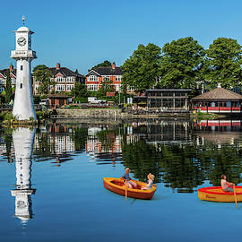 Little Rowers At Roath Park by Steve Purnell