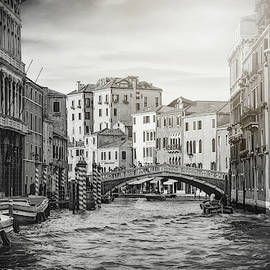 Living on Water  Scenes of Venice Italy Black and White by Carol Japp