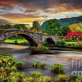Llanrwst Bridge and Ivy Cottage by Adrian Evans