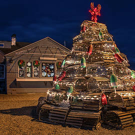 Joann Vitali - Lobster Pot Tree - Nubble Light Maine