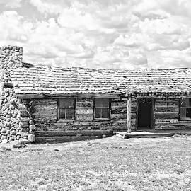 Log Cabin At Ghost Ranch by Toni Abdnour