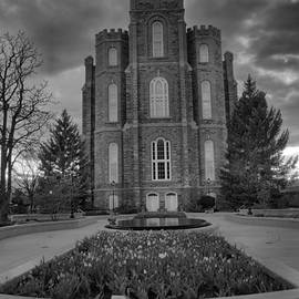 Logan Utah Evening Portrait Black And White by Adam Jewell