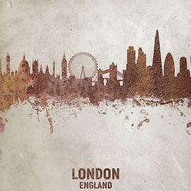 Michael Tompsett - London England Rust Skyline
