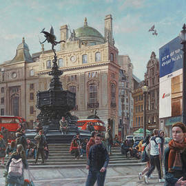 London Piccadilly Circus With Evening Light by Martin Davey