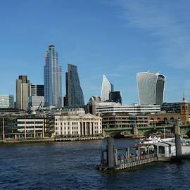 London skyline and skyscrapers by Santosh Puthran