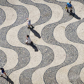 Looking Down From the Monument of the Discoveries - Lisbon  by Stuart Litoff