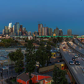 Los Angeles At Dusk by Gene Parks