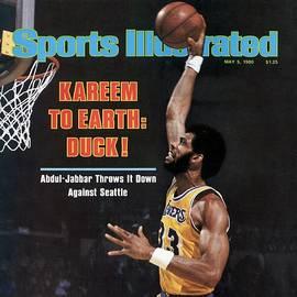 Los Angeles Lakers Kareem Abdul-jabbar, 1980 Nba Western Sports Illustrated Cover