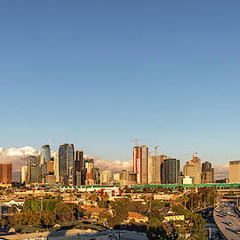 Los Angeles Skyline Looking East Panorama 2.9.19 by Gene Parks