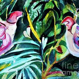 Love Bird Parrot Orchids by Mindy Newman
