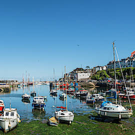 Low tide, Brixham Harbour, Devon. by Maggie McCall