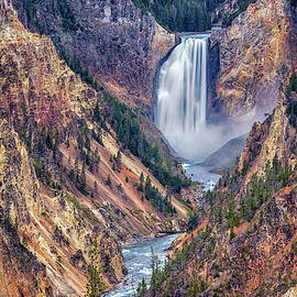 Lower Falls of the Yellowstone - #2 by Stephen Stookey