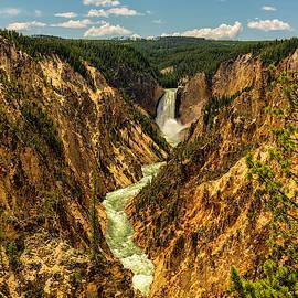 Lower Yellowstone Canyon Falls 4 - Yellowstone National Park Wyoming by Brian Harig
