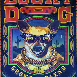 Lucky Dog Fertilizer Sign by Norma Brandsberg