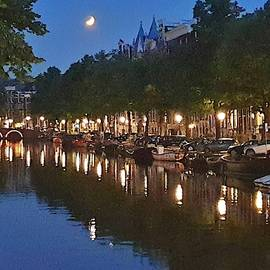 Lunar Eclipse Over Amsteram by Andrea Whitaker