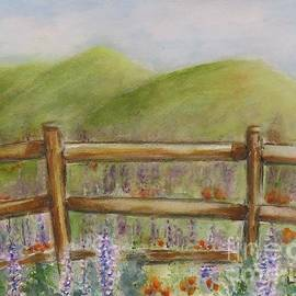 Lupines With A Side Of Poppies by Laurie Morgan