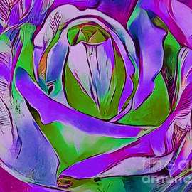 Luxurious Rose Abstract by Trudee Hunter