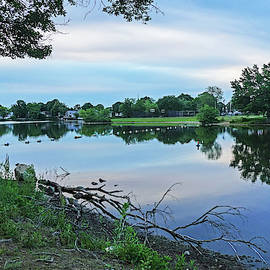 Lynn Ma Flax Pond Sunrise Clouds by Toby McGuire