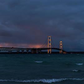 Kirk Hewlett - Mackinac Bridge Sunset