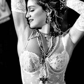 Madonna During A Performance At Mtv by New York Daily News Archive