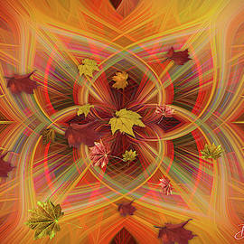 Magical Autumn Leaves Abstract by Diane Schuster