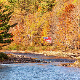 Maine Fall Colors- Carrabassett River by Daniel Hebard
