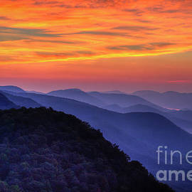 Majestic Blue Ridges 2 Pretty A Place Chapel Sunrise Great Smoky Mountains Art by Reid Callaway
