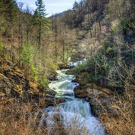 Winter Is Here Too Cullasaja Falls North Carolina Waterfall Art by Reid Callaway
