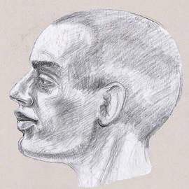 Man Head Study Profile  by Irina Sztukowski
