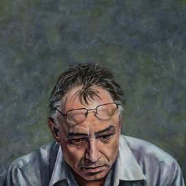 Man in a Grey Shirt by Jolante Hesse