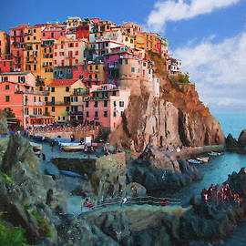 Manarola Italy on the cliffs of Cinque Terre by Dean Wittle