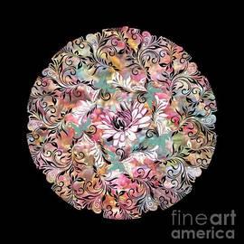 Mandala abstract overlay by Melodye Whitaker