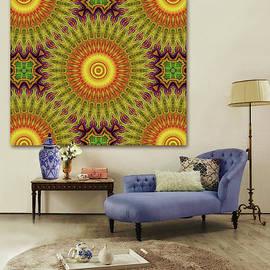 Mandala - The Sun--Artwork in Situ by Grace Iradian