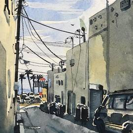 Manhattan Beach Alley by Luisa Millicent