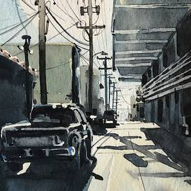 Manhattan Beach Alley #2 by Luisa Millicent