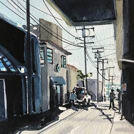 Manhattan Beach Alley #3 by Luisa Millicent